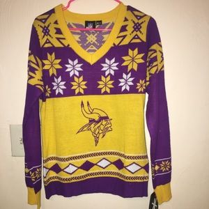 on sale af930 d3d1f Women's XL Vikings NFL ugly Christmas Sweater NWT NWT